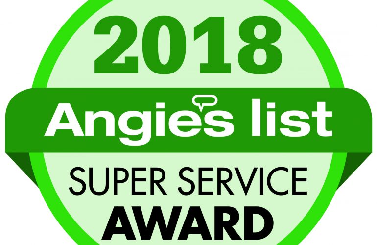 WE WON A MAJOR AWARD  Angie's List Super Service Award.